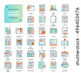 vector set of files and... | Shutterstock .eps vector #496403476