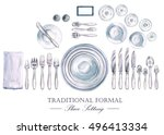 traditional formal place...   Shutterstock . vector #496413334