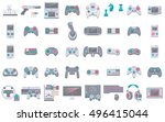 game icons. flat style vector... | Shutterstock .eps vector #496415044