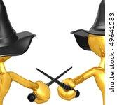 gold guy wizard duel | Shutterstock . vector #49641583