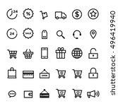 e commerce outline icon set...   Shutterstock .eps vector #496419940