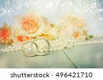 wedding rings | Shutterstock . vector #496421710