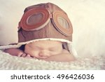 sweet little baby dreaming of... | Shutterstock . vector #496426036