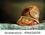 sweet little baby dreaming of... | Shutterstock . vector #496426039