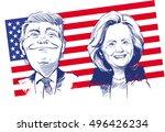 october 11  2016  portrait of... | Shutterstock .eps vector #496426234