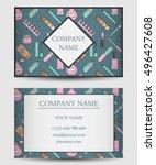 vector business card template... | Shutterstock .eps vector #496427608