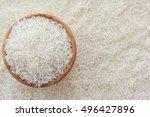 grains of thai jasmine rice in... | Shutterstock . vector #496427896