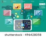 business tablet technology... | Shutterstock .eps vector #496428058