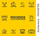 phoenix logo collection | Shutterstock .eps vector #496428700