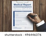 medical report record form... | Shutterstock . vector #496446376