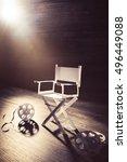 high contrast image of director ... | Shutterstock . vector #496449088