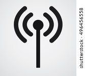 wireless and wifi icon | Shutterstock .eps vector #496456558