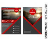 business annual report brochure ... | Shutterstock .eps vector #496457350