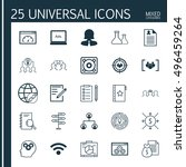 set of 25 universal icons on... | Shutterstock .eps vector #496459264