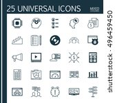 set of 25 universal icons on... | Shutterstock .eps vector #496459450