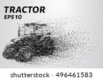 agricultural tractor of the... | Shutterstock .eps vector #496461583