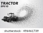 tractor of the particles.... | Shutterstock .eps vector #496461739