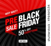 pre black friday sale banner.... | Shutterstock .eps vector #496464154