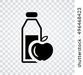 healthy food icon | Shutterstock .eps vector #496468423