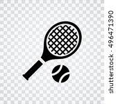 tennis  icon | Shutterstock .eps vector #496471390