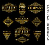 vector collection of logotypes  ...   Shutterstock .eps vector #496473796