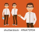 elegant people businessman | Shutterstock .eps vector #496473934