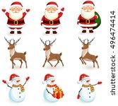 Christmas Reindeer  Santa ...