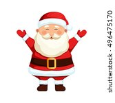 santa claus. cartoon holiday... | Shutterstock .eps vector #496475170