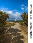Small photo of clear morning southern ocean lighthouse Gippsland coast clearing storm