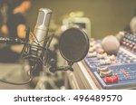 professional condenser studio... | Shutterstock . vector #496489570