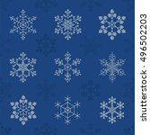 snowflake seamless pattern.... | Shutterstock .eps vector #496502203