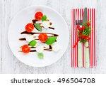 festive christmas appetizer...   Shutterstock . vector #496504708