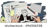 stock illustration. people in... | Shutterstock .eps vector #496506538