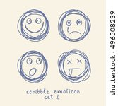 vector set of emoticons and... | Shutterstock .eps vector #496508239