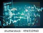 saving money and wealth...   Shutterstock . vector #496510960