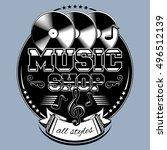 Musical Records Shop Emblem