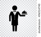 waiter   icon | Shutterstock .eps vector #496514740