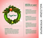 christmas ornament round... | Shutterstock .eps vector #496517194