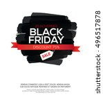 black friday sale inscription... | Shutterstock .eps vector #496517878