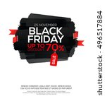 black friday sale inscription... | Shutterstock .eps vector #496517884