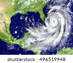 disastrous hurricane matthew on ... | Shutterstock . vector #496519948
