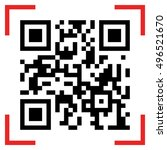 vector illustration of qr code... | Shutterstock .eps vector #496521670