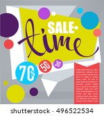 sale time  vector discount... | Shutterstock .eps vector #496522534