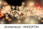 golden fantasy stars and... | Shutterstock . vector #496529734