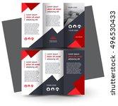 brochure design  brochure... | Shutterstock .eps vector #496530433