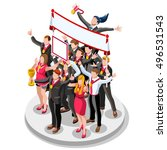 isometric people business team... | Shutterstock .eps vector #496531543