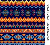 vector seamless tribal style...   Shutterstock .eps vector #496531966