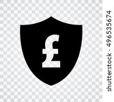 pound sign with shield icon.... | Shutterstock .eps vector #496535674