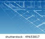 building background. plan of... | Shutterstock .eps vector #49653817