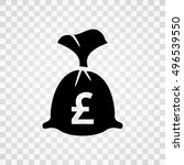 english pound money bag icon.... | Shutterstock .eps vector #496539550